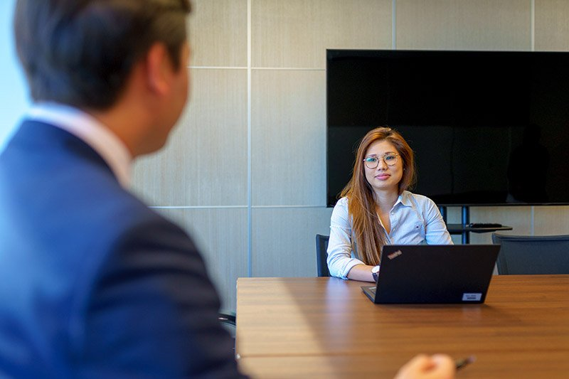 Catherine Lo in the meeting room