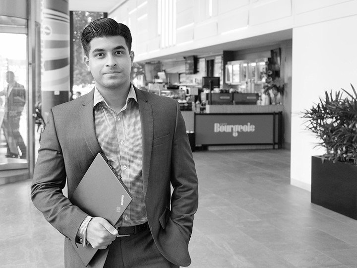 Jithin Xavier DXC Graduate on a walk