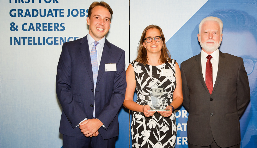A group of people at the top 5 graduate employers in the engineering, R&D and manufacturing industry ceremony