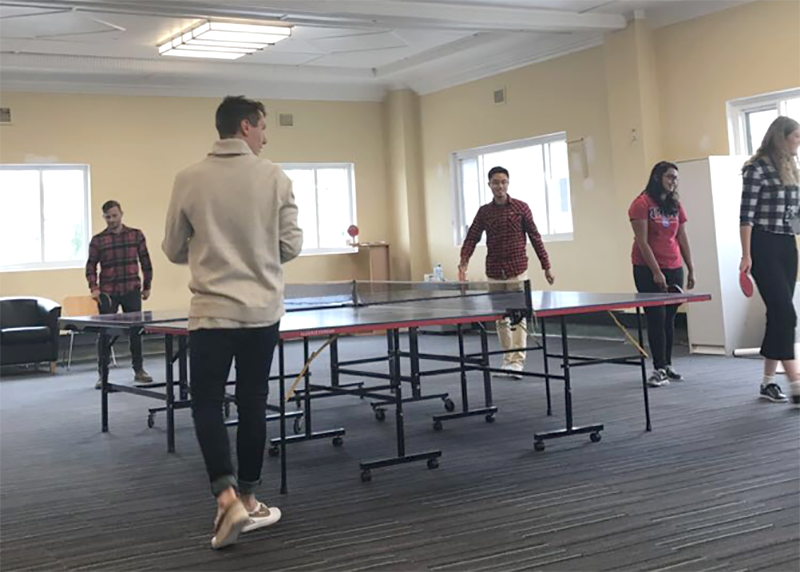TasNetworks Shannon Culic playing table tennis