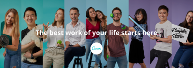 Canva Banner - The best work of your life starts here.