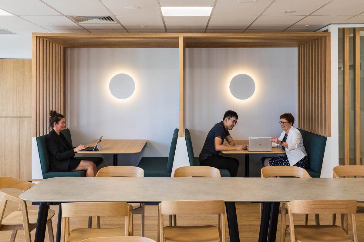 Grant Thornton Cairns office Informal meeting booths