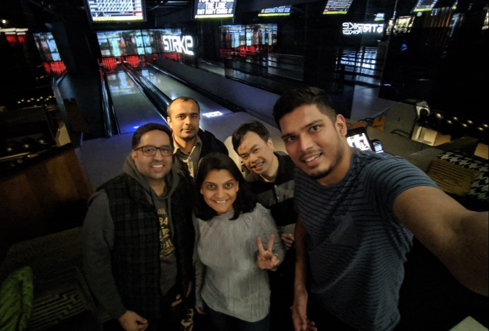 Hari Prasath Bowling after a successful project rollout